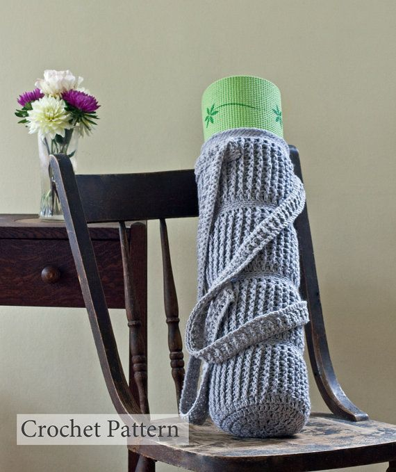Crochet Pattern Yoga Mat Bag Cable Links by HiddenMeadowCrochet, $4.50 This is cool even though I have no yoga mat