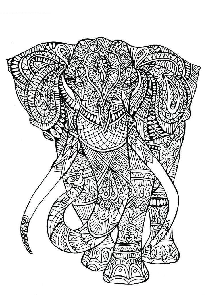 Раскраска-антистресс слон - Раскраски для детей | для ...