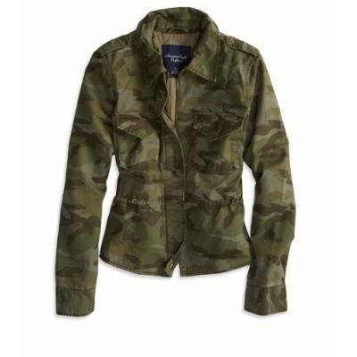Dark Green Camouflage Military Jacket by American Eagle Outfitters. Buy for $79 from American Eagle Outfitters