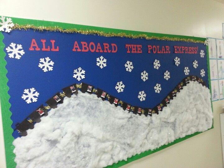 My bulletin board for the Christmas season! polar express