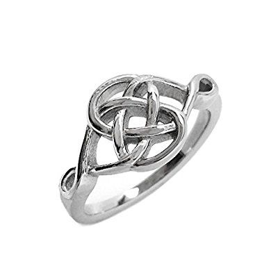 Stainless Steel Celtic Knot Love Promise Committment Ring