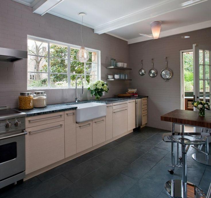 les 25 meilleures id es concernant le tableau sol de cuisine en ardoise sur pinterest sol en. Black Bedroom Furniture Sets. Home Design Ideas