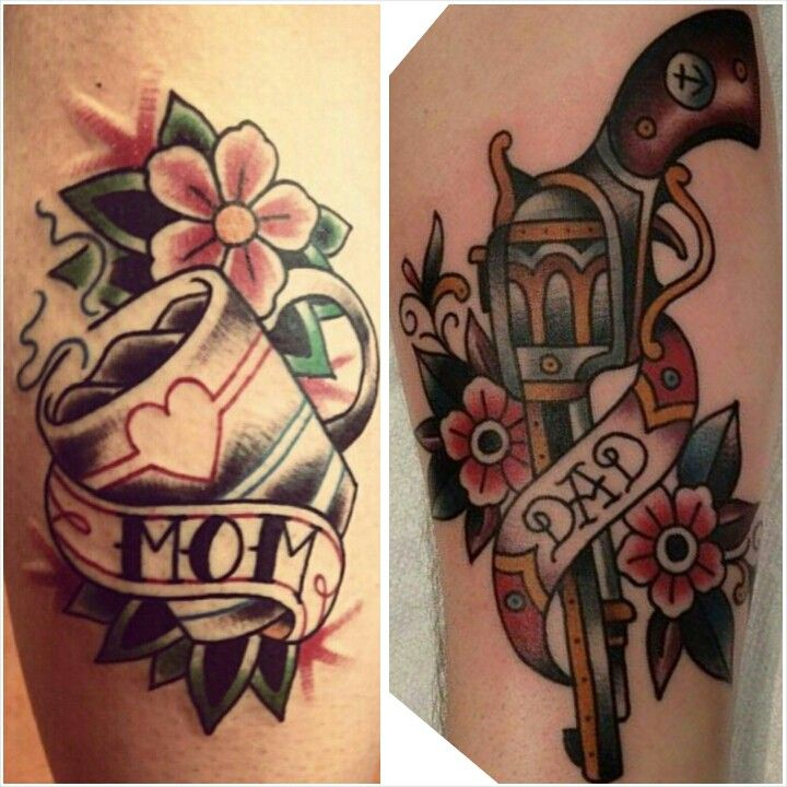 Mom and dad tattoos