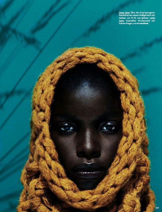 Jeneil Williams in 'Cocoon' by Julia Noni for Vogue Germany, September 2013…
