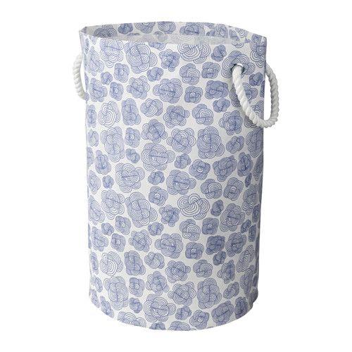 IKEA - KLUNKA, Wäschebehälter, Auch für andere Dinge außer Wäsche geeignet - z. B. Spielsachen.Dank der stabilen Griffe einfacher zu tragen.Kunststoffbeschichtung auf der Innenseite schützt das Produkt vor Feuchtigkeit.