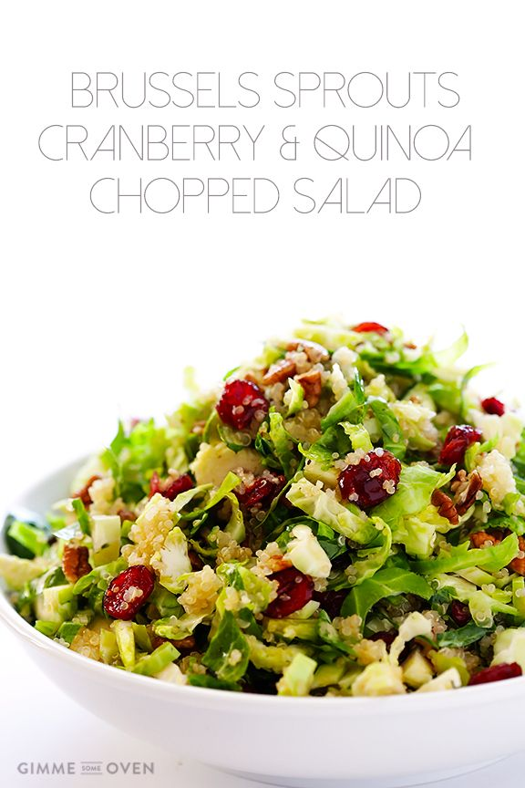 This Brussels Sprouts, Cranberry and Quinoa Salad is delicious, easy to make, healthy, and naturally vegan and gluten-free!