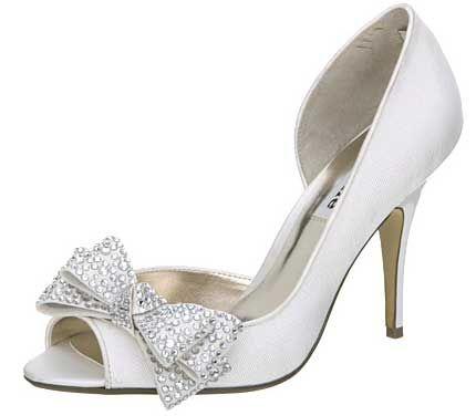 Beautiful shoes | Beautiful Bridal Shoes: Dune's 'Jem' diamante bow d'orsays