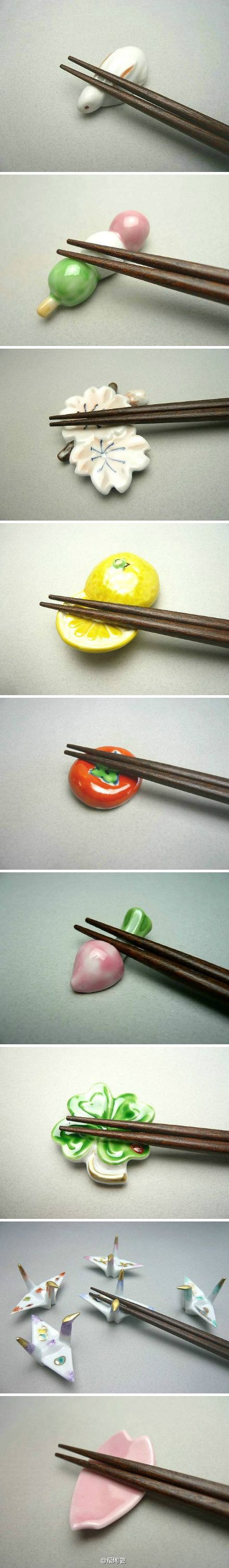 Chopstick rest  ...I MUST buy one of these