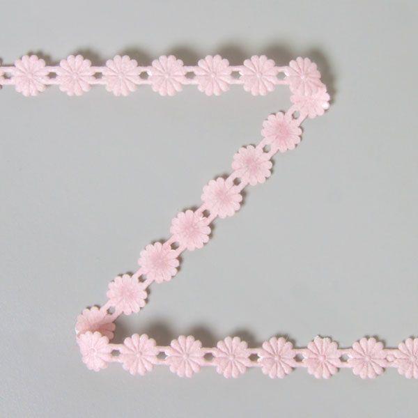 Blumenband aufbügelbar 7 (10) - Polyacryl - rosa