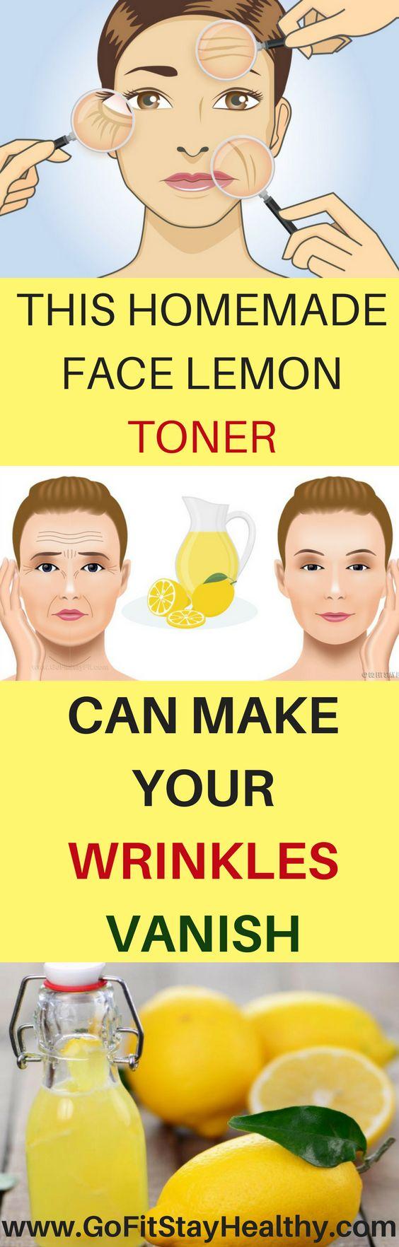 THIS HOMEMADE FACE LEMON TONER CAN MAKE YOUR WRINKLES VANISH