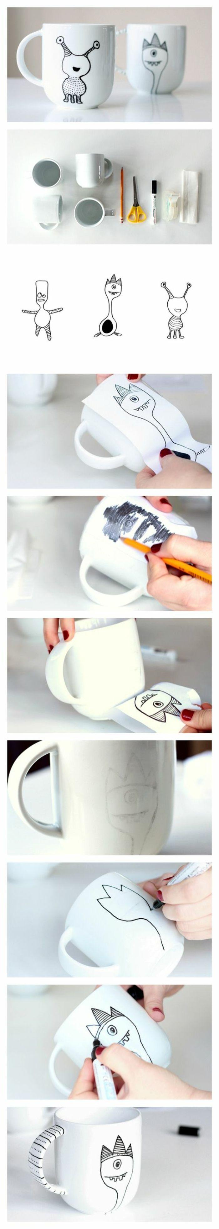 regalos-hechos-a-mano-taza-de-cafe-pintada-con-marcador-personal-creativo