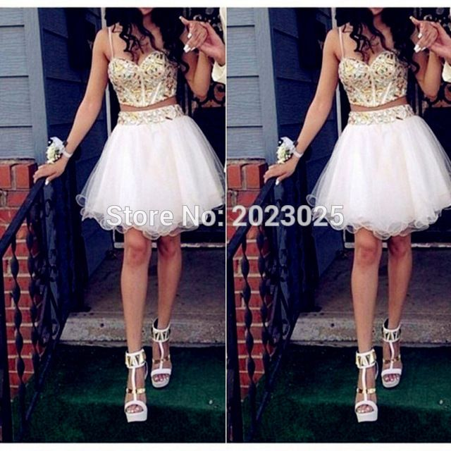 # For Sales White And Gold Short 2/Two Piece Prom Dresses With Spaghetti Straps A Line Tulle Crystals And Beading Party Women Dress [po7BeNyi] Black Friday White And Gold Short 2/Two Piece Prom Dresses With Spaghetti Straps A Line Tulle Crystals And Beading Party Women Dress [WQejWNp] Cyber Monday [WndHiL]
