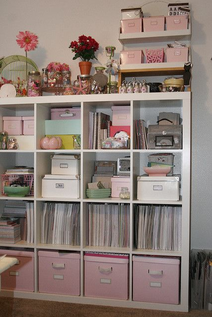 Craft room, hobby room, sewing room, scrapbooking room, office, Expedit from Ikea