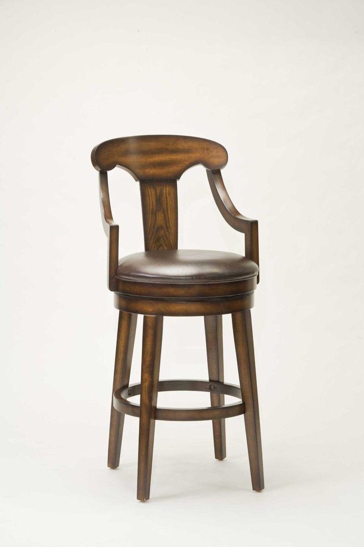 Hilale Furniture Upton 45 5 Inch Swivel Bar Stool Rustic Oak