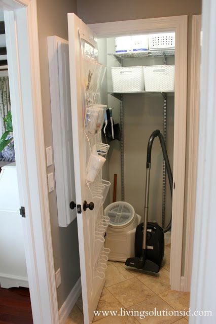 LSID BLOG: The Laundry Room Today - she has one basket for clean cloths and the 2nd for dirty. very smart thinking.