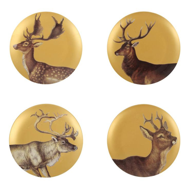 Klevering Anouk Plates - Set of 4 Multicoloured