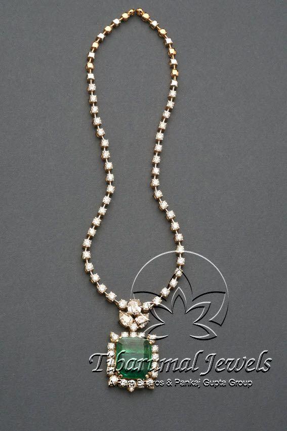Diamond Necklace Set | Tibarumal Jewels | Jewellers of Gems, Pearls, Diamonds, and Precious Stones