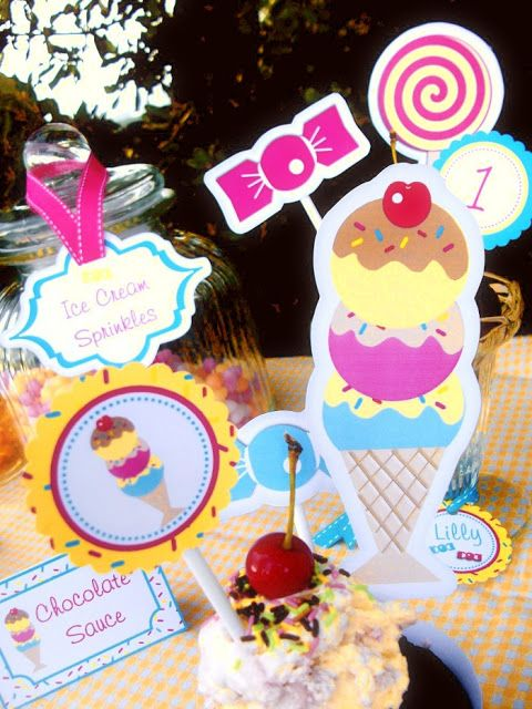 ice cream party ideas | Bird's Party Blog: Ice Cream & Candy Party