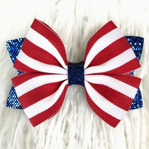 newborn headband red chunky glitter bow chunky glitter bow toddler hair bow red hair bow RED and WHITE BOW newborn hair bow