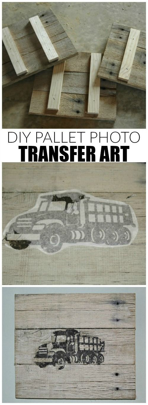 How to build and transfer images onto custom pallet frames. - www.littlehouseoffour.com