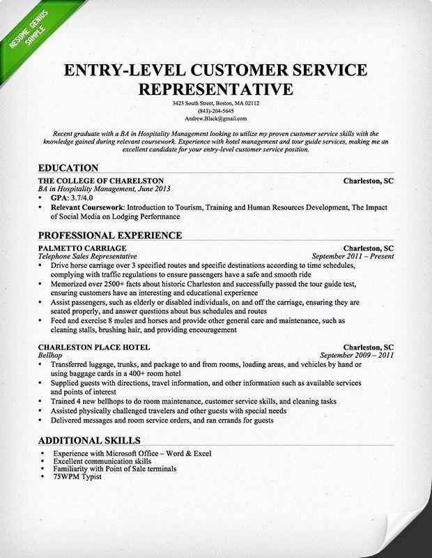 Entry Level Customer Service Resume Luxury Entry Level Customer