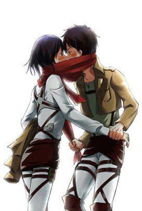 Resultado de imagen para eren y mikasa love