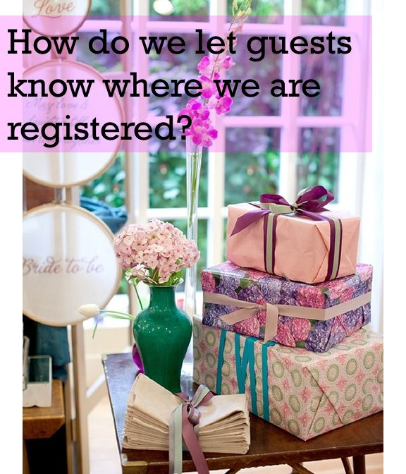 Wedding Registry  Engagement to Altar: Wedding Etiquette Questions Answered Allyson VinZant Events    The blog about all things weddings in Oklahoma