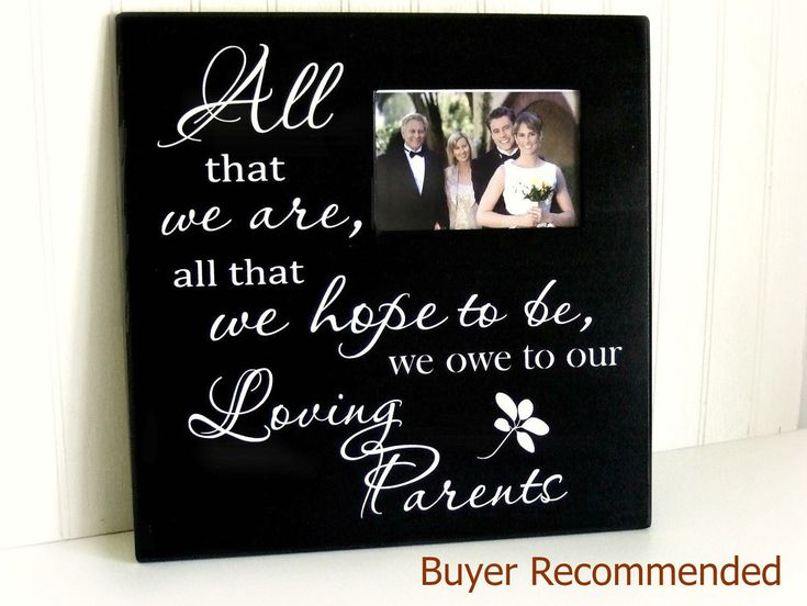 Wedding Frame Gift for Parents, Wedding Gift for Parents Picture Frame, All That We Hope to Be, Thank You Wedding Gift for Parents by MulberryCreek on Etsy https://www.etsy.com/listing/231722845/wedding-frame-gift-for-parents-wedding