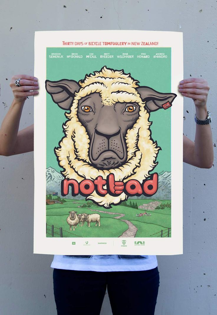 Not Bad - Movie Poster. We don't have the proof to substantiate the claim, but it's quite possible that Not Bad is the first ever mountain bike film to have a sheep on the poster. And why the heck not? Sheep are fun. They're from New Zealand.