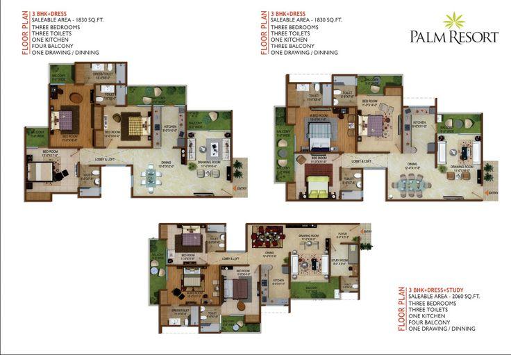 Palm Resort Floor Plans Chalet Pinterest Palms