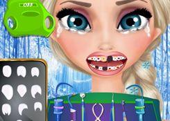 JuegosElsa.com - Juego: Dentista Elsa - Minijuegos de la Princesa Elsa Frozen Disney Jugar Gratis Online