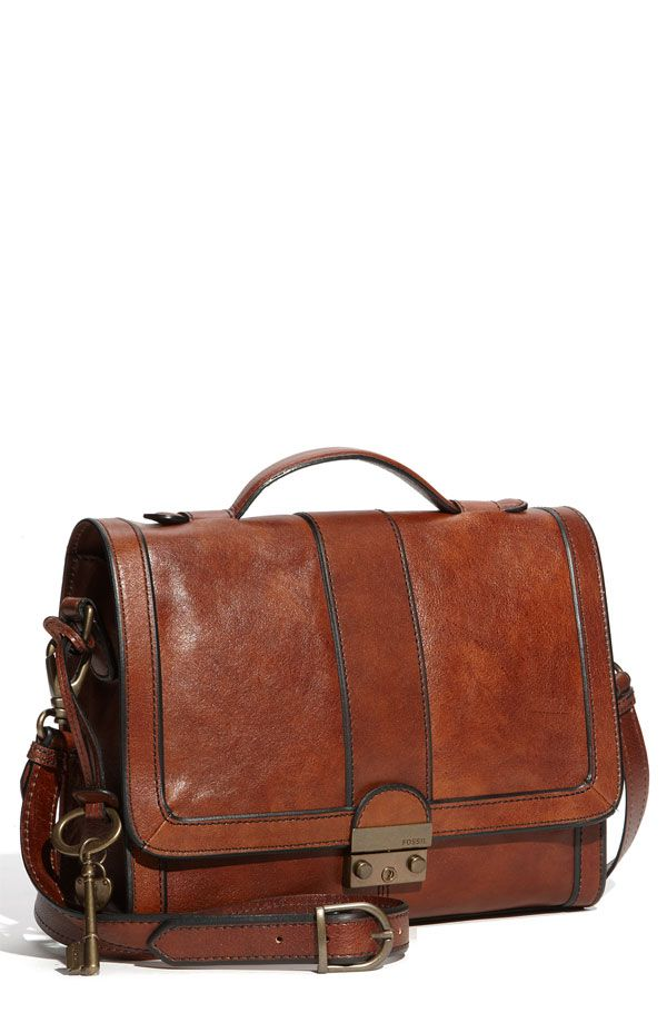 Leather Fossil Bag. Love.