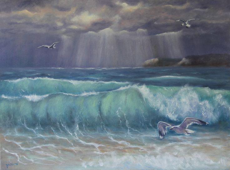 Storm Abating Oil by Denise Ellison October 2015