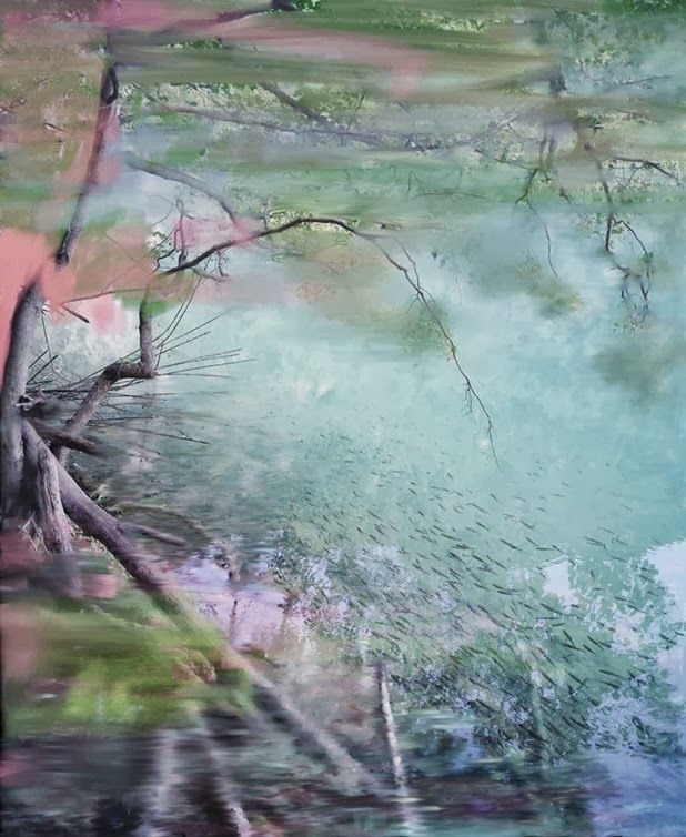 photographs on aluminum plates and paintings by sandra kantanen