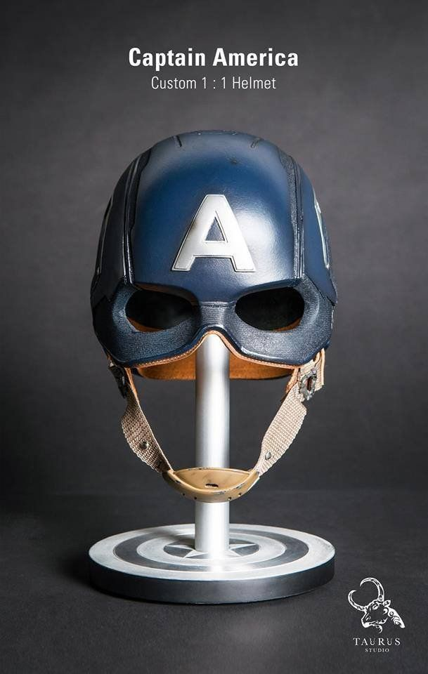 Toys Planet - Custom Captain America 1:1 Helmet - visit to grab an unforgettable cool 3D Super Hero T-Shirt!