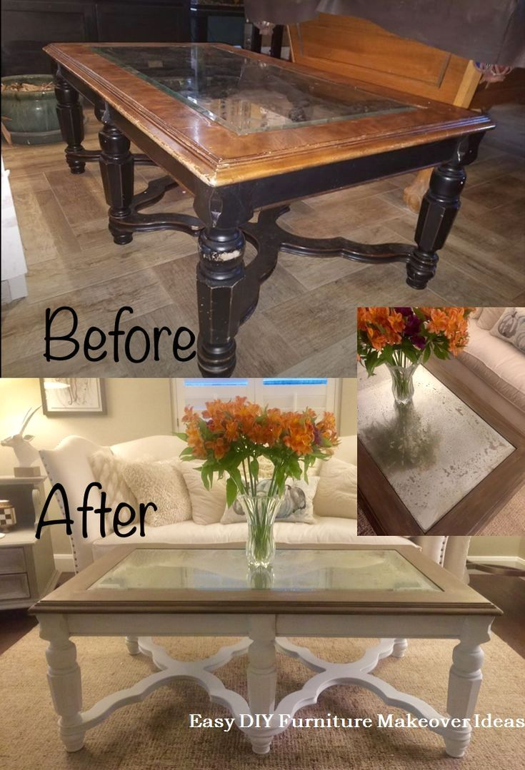 22 Amazing Ways To Turn Old Furniture Into New Beautiful Things Through Diy Tricks 2 An Old Cabinet Into A Storage Space Coffee Table Makeover Refurbished Coffee Tables Glass Coffee Table Makeover