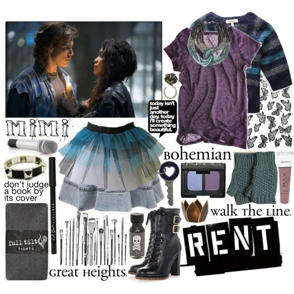 """RENT- Mimi"" by dearmariagirl on Polyvore"