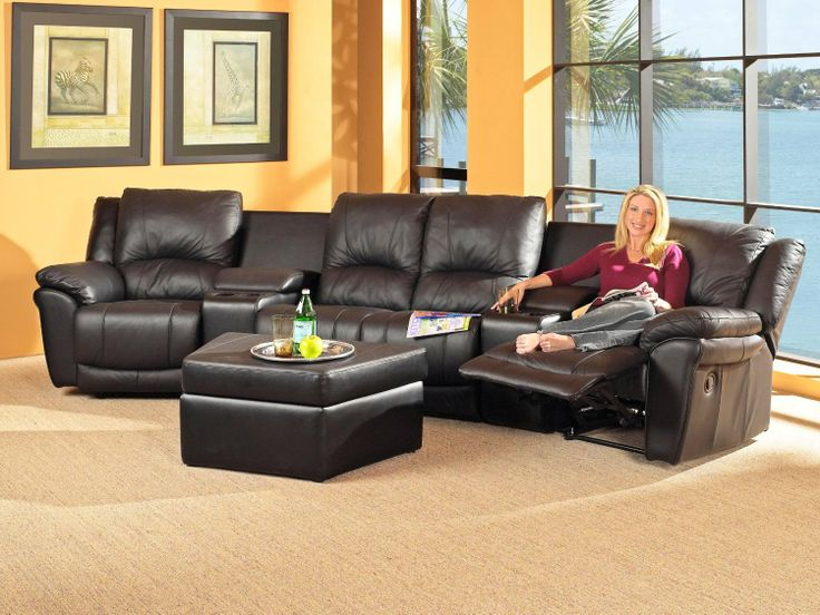 Sectional Sofas For Small Spaces | Leather Sectional Black Small Sectional  Sofa With Recliner