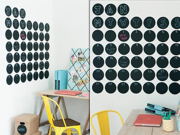 Organise your kids' homework area with this funky DIY wall calendar!