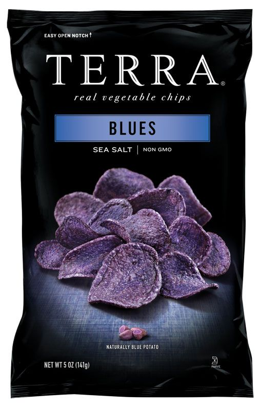 Terra Blue Potato Chips - Updated Terra Chips packaging - I really want to try these:  no GMOs, all natural, delicious.