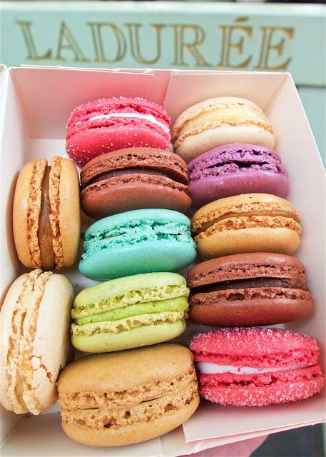 Macarons - Pierre Hermé has more exotic, adventurous flavors (creme brûlée).  Ladurée is more main stream, classic flavors (salted caramel).