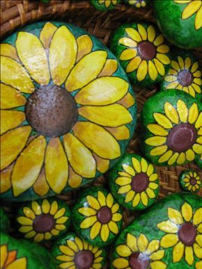 Hand Painting Flowers & Fairies on Garden Rocks                                                                                                                                                                                 More