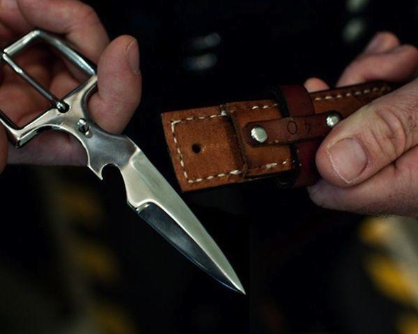 Hidden Belt Buckle Knife - WorldOfNovelty.com