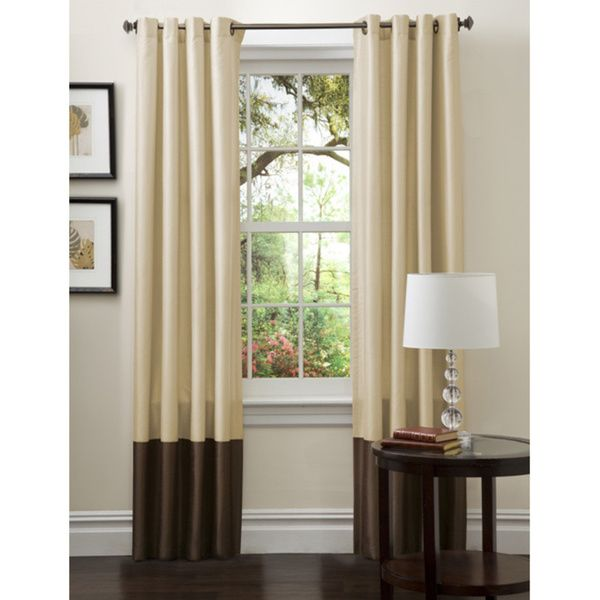 Lush Decor Prima Gold/ Brown Curtain Panels (Set of 2) - Overstock™ Shopping - Great Deals on Lush Decor Curtains