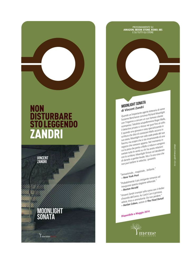 "Vincent Zandri - Moonlight Sonata ""do not disturb"" bookmark meme publishers © 2013"