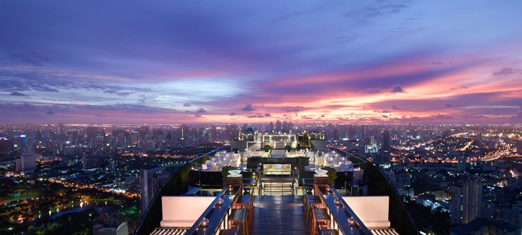 Things to Do Before You Die: Dinner for two on a rooftop in Bangkok, Thailand...