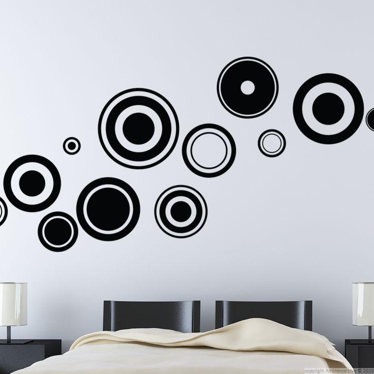Stickers muraux design - Sticker mural cercles | Ambiance-sticker.com