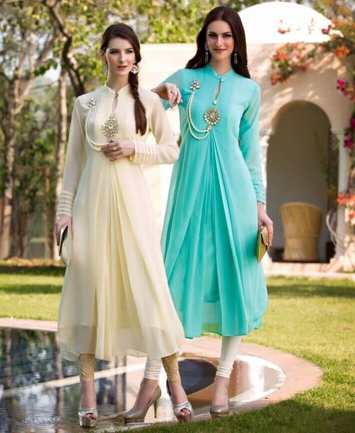 Bridal Chiffon Kurtis With Leggings | Buy online Kurtis | Elegant Fashion Wear
