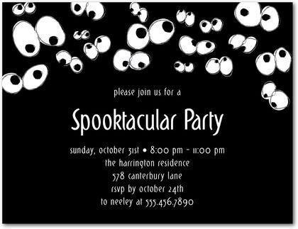 20 best halloween party invitation templates images on pinterest spooky eyes studio basics halloween party invitations in black stopboris Images
