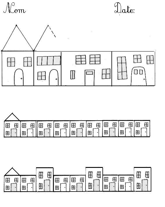 maisons toits en lignes brisées                                                                                                                                                                                 Plus
